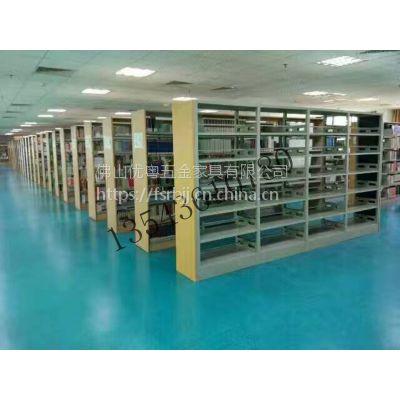佛山书柜书架定制,广佛山双面六层图书架批发大良全钢图书柜价格,厂价直销