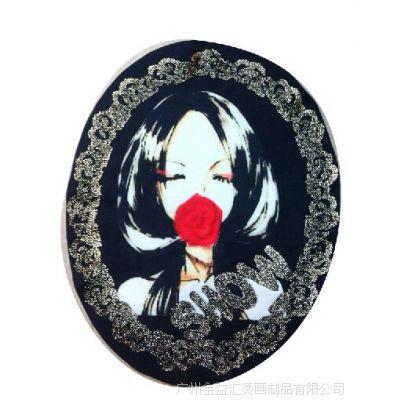 【厂家直销】个性植绒图案烫画 热转印烫画 服装烫画 植绒印花