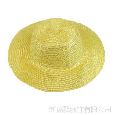 农民草帽批发便宜地摊帽子 夏天防晒遮阳麦秆草帽农黄色家草编帽
