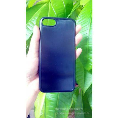 【苹果7 tpu手机壳 iphone7plus凹槽贴皮手机保护套电镀专用素材】