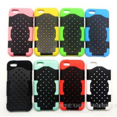 供应【深圳厂家】new新款iphone5C硅胶手机保护套PC定制苹果5C外壳