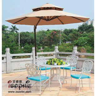 供应户外高档铸铝桌椅花园铸铝家具别墅套桌椅售楼处铸铝套椅