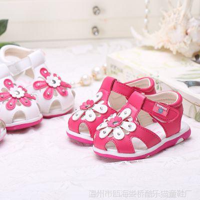 2015夏季新款女童凉鞋公主鞋 女宝宝凉鞋 婴儿鞋子软底学步鞋