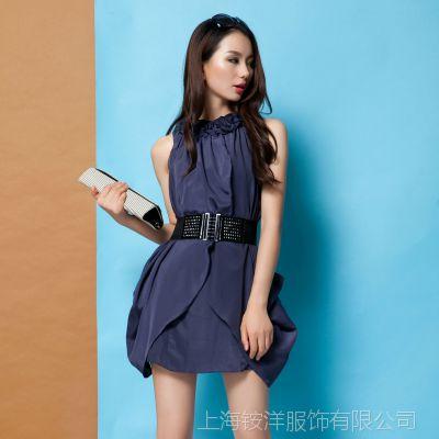 批发2015夏季新款欧美原创女装裙子 欧洲站高端品牌真丝连衣裙