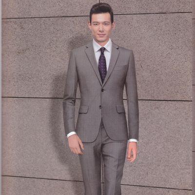 厂家定做职业男装 秋季黑色西服套装 高端商务职业西服定做