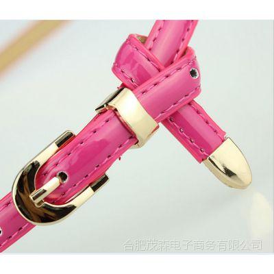 特价 女式腰带漆皮多色小腰带女士 糖果色女式细皮带淘宝爆款
