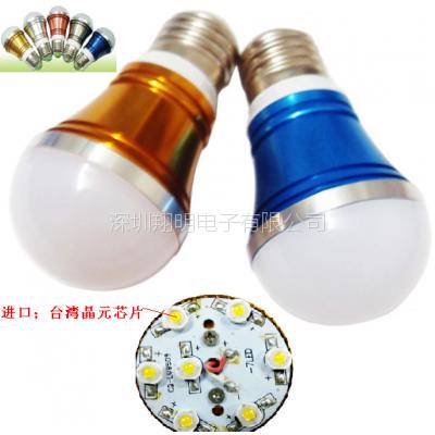 LED球泡灯3W5W调光球泡灯高档豪华款装饰灯泡大功率高亮室内装修