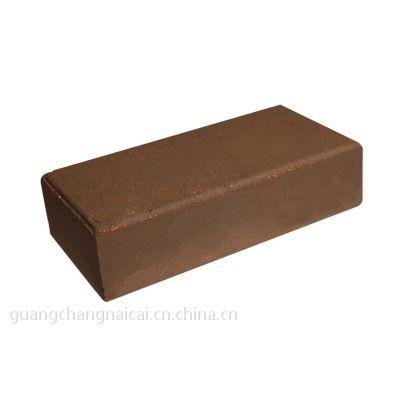 供应咖啡色烧结砖200*100棕色陶土砖广场砖透水砖
