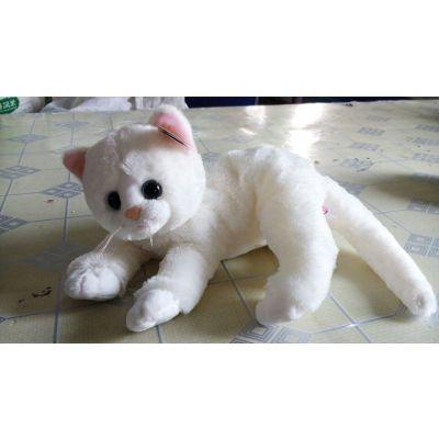 厂家批发小白猫毛绒玩具 可爱毛绒公仔 2015毛绒玩具