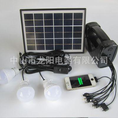 龙阳供应太阳能小系统光伏灯带三只LED灯手机充电功能太阳能手电筒
