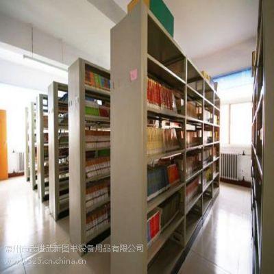 常州地区钢制展架双面结构复柱设计书架防锈处理书柜厂家自产自销
