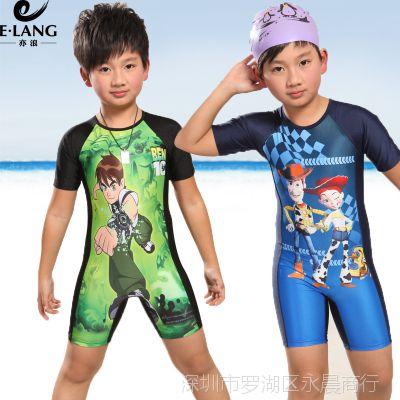 亦浪正品儿童连体泳衣小中大男童泳裤帅气防晒衣冲浪衣温泉游泳装