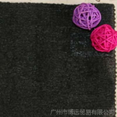 新款现货面料供应 黑色木棉纱面料 涤纶面料 弹力网眼布 纱网布