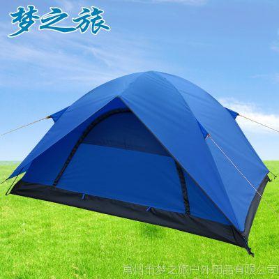 双人双层户外休闲野外露营帐篷 2人带天窗两用野营帐篷 批发定制