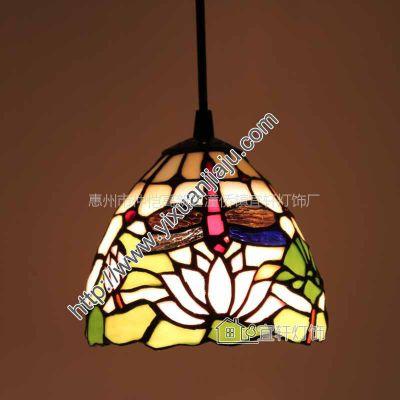 供应欧式家装蒂凡尼灯具阳台餐厅酒吧温馨玻璃吊灯橱窗水槽灯0621C