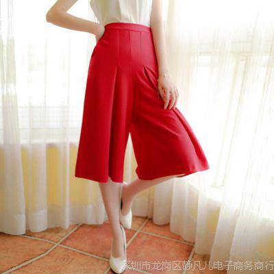 夏季2015新款韩版女装大码阔腿裤女裤七分裤显瘦休闲裤 好质量
