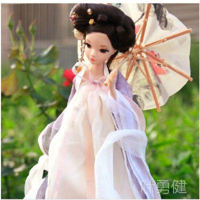 正版可儿娃娃9052 古装衣服 白蛇仙子 中国芭芘娃娃 关节体珍藏版