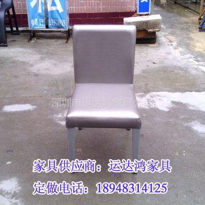 供应深圳市餐饮家具厂家直销各类餐椅_軟包金属快餐椅