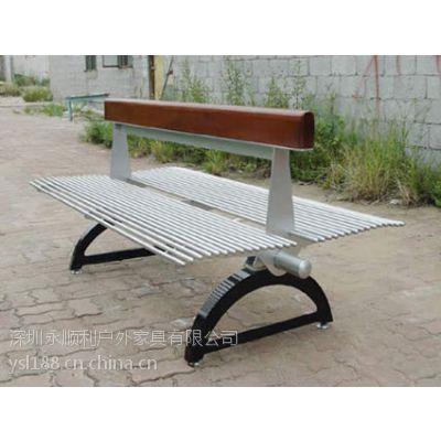 金属休闲桌椅 户外金属连体桌椅 两面休闲座椅