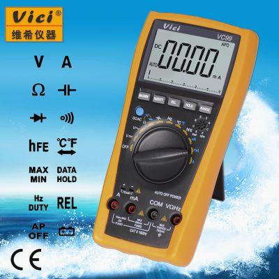 维希Vici VC99 3 5/6位自动量程数字万用表 模拟条