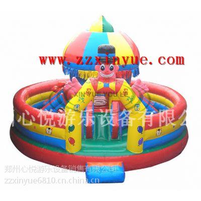 供应趣味马戏团城堡 儿童小型充气城堡蹦蹦床 充气滑梯玩具汽包价格