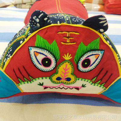 厂家直销纯棉老粗布纯手工工艺品儿童抱枕老虎枕头