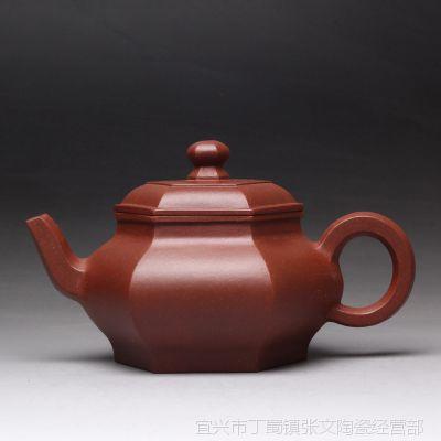 一公紫砂100%纯正品质宜兴正品原矿紫砂手工制作茶具 六方亭子壶