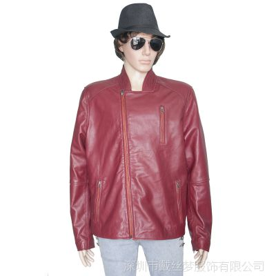 真皮皮衣男士单皮优质头层绵羊皮男式皮夹克定制批发团购