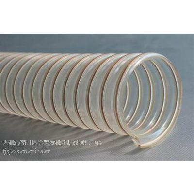 济南钢丝除尘软管,聚鑫橡塑,TPU耐磨钢丝除尘软管