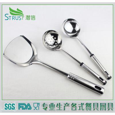 国标优惠供应不锈钢勺铲套件5-10元汤勺套装烹饪炊具做饭工具套装