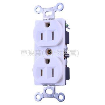 供应双联美式带保护插座(螺钉接线)YGB-044/NEMA :5-15R