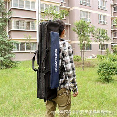 吉庆渔具水仙鱼竿包90公分三层渔具包鱼杆包双肩背带包