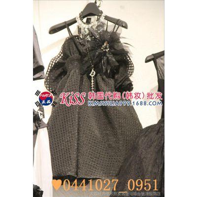 2014秋装新款韩国代购东大门女装正品批发女式纯色吊带打底连衣裙