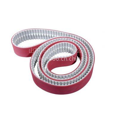供应玻璃磨边机耐磨红胶聚氨酯钢丝/PU同步带