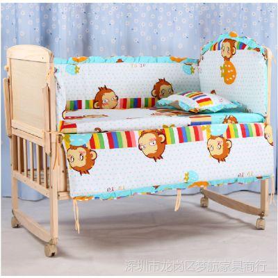 供应14年新款床可变书桌 实木无漆婴儿床 好孩子必备童床 宝宝床摇篮