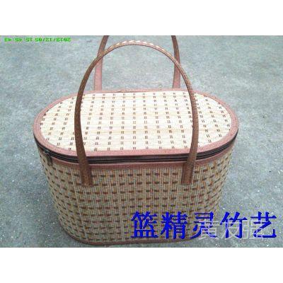 安吉竹篮厂家优质折叠水果竹篮  水果竹盒  竹筐  不变形  无虫蛀