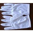 厂家直销防静电条纹手套劳保手套无尘车间专用