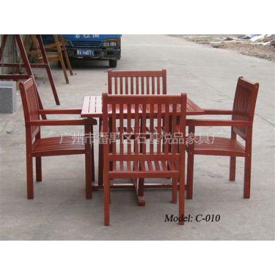 供应广东房地产实木套椅生产商 公园桌椅供应商 悦品户外家具