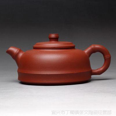 自产自销紫砂厂家批发宜兴紫砂原矿手工紫砂壶精品礼品半月竹段壶