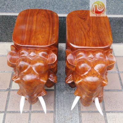 60公分越南红木工艺品大象凳摆件整块实木凳子家居用品花梨木矮凳