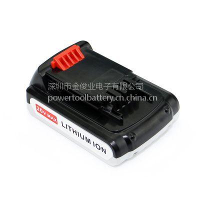 可适用于新品百得Black Decker 20V 1.5A 锂电池,LBX20 史丹利,LBXR20