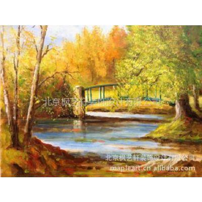 供应爱尔兰画家Frank油画作品—《强悍的大西洋》《马利公园的桥》
