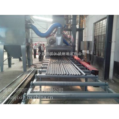 青岛润祺角钢角铁抛丸机&角钢角铁除锈机&角钢角铁清理机