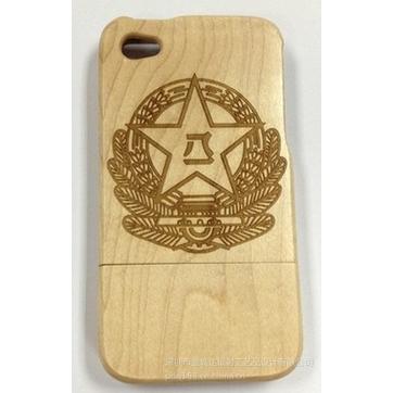 个性手机硅胶保护套手机皮套镭射木质雕刻