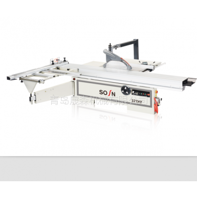电动升降裁板锯 裁板锯MJ61-32TAY 圆棒轨升降 厂家直销