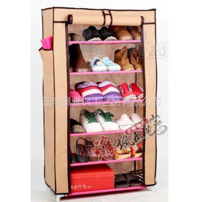 供应不锈钢鞋架 多功能鞋架 立式鞋柜 无纺布鞋柜