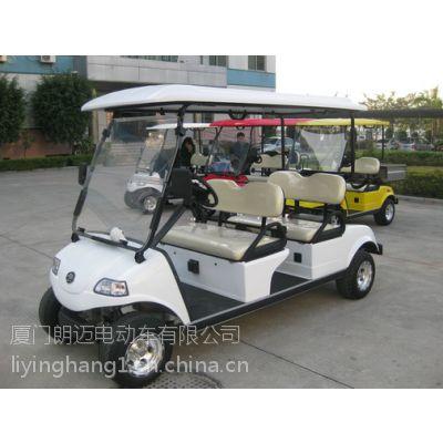 朗迈厂家直销电动高尔夫球车 出口品质高档高尔夫车 码头4座白色高尔夫球车