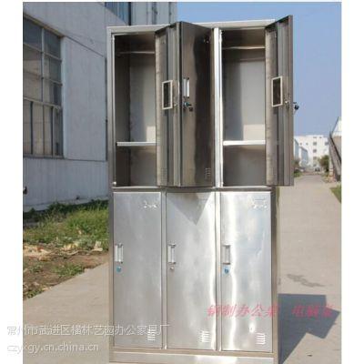 专业生产不锈钢衣柜 6门更衣柜