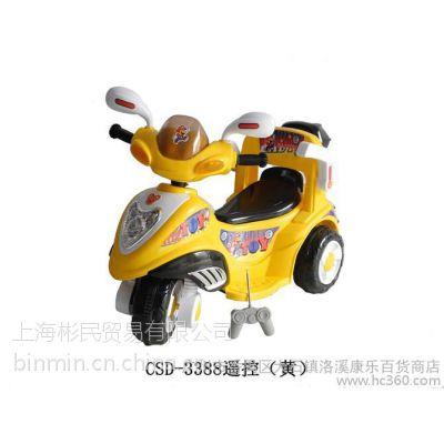 童车/童床/电动车 儿童三轮电动车3388三轮车遥控摩托车童车送小孩玩具电瓶车