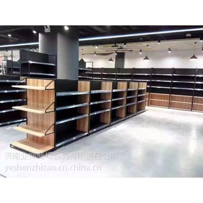 业神制造|超市货架便利店货架钢木货架2016新款钢木货架进口商品展示架 中型货架钢制货架款台小货架